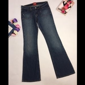 Guess dark blue flare boot cut jeans size 27